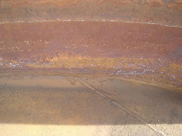 Internal pic of tank damage