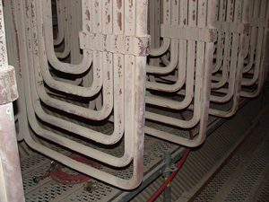 The picture above shows a Pendant of Secondary Superheat Outlet Tubes