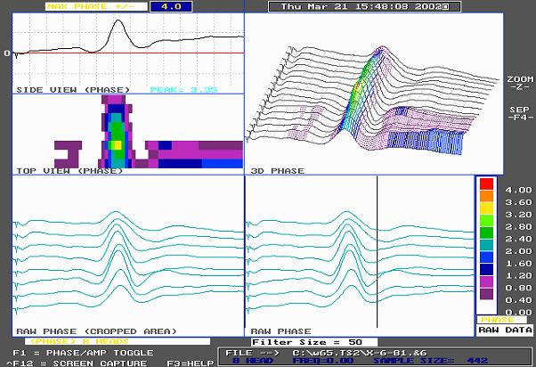 Nominal wall Hydrogen Damage Waveform