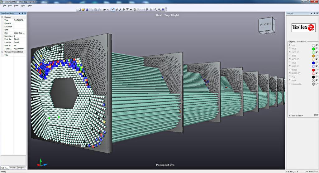 Condenser 3D tubesheet map