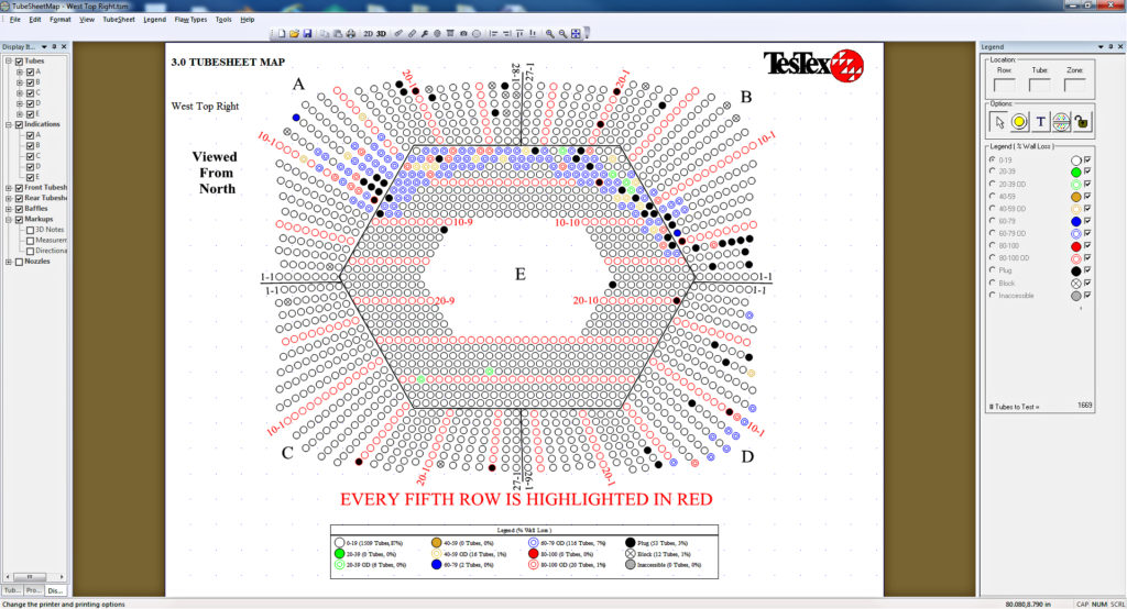 Condenser tubesheet map