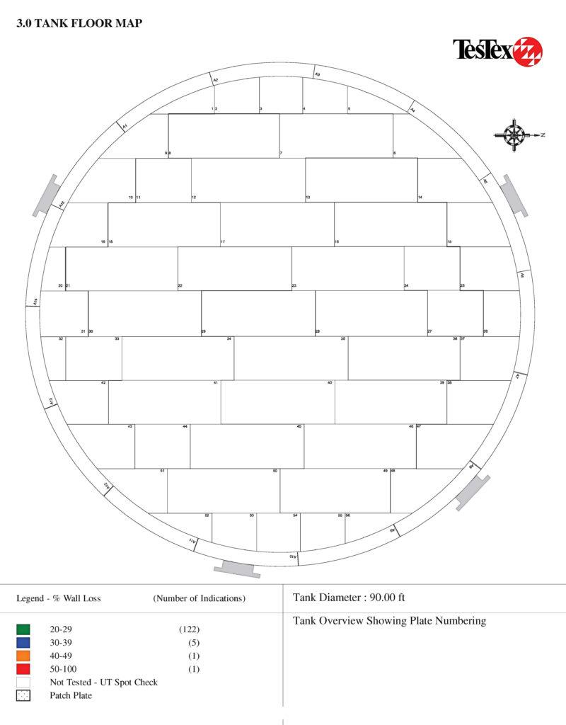 Tank floor map